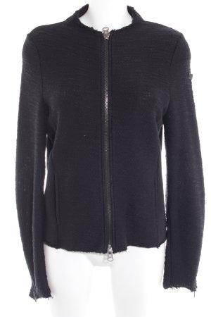 Q/S Strickjacke schwarz schlichter Stil