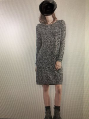 Q/S Sweater Dress grey-natural white