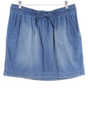Q/S Wollrock stahlblau Jeans-Optik