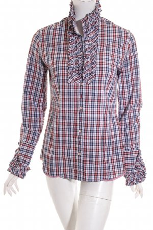 Q1 Langarm-Bluse Karomuster Casual-Look