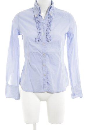 Q1 Rüschen-Bluse blau Business-Look