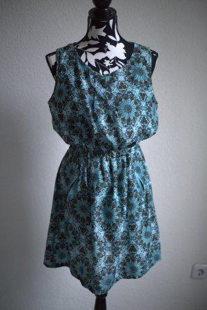 QED London Kleid Blau Butterflys M Damen mit Taschen