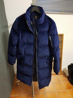 QED London Winterjas donkerblauw