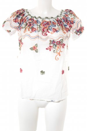 QED London schulterfreies Top florales Muster Beach-Look