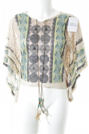 QED London Strickshirt beige Aztekenmuster Country-Look