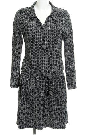 Qiero Robe trapèze noir-blanc cassé motif abstrait style décontracté