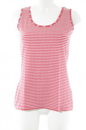 Qiero Basic Top rot-weiß Streifenmuster Casual-Look
