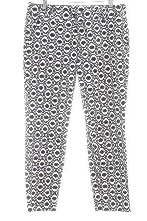 Qiero Chinohose schwarz-hellbeige abstraktes Muster Casual-Look