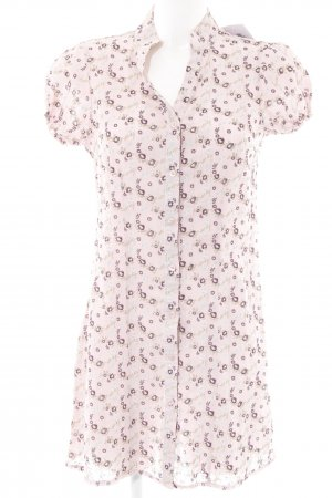 Qiero Shirtwaist dress dusky pink floral pattern retro look