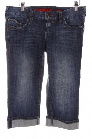 QS by s.Oliver 3/4-jeans donkerblauw-staalblauw casual uitstraling