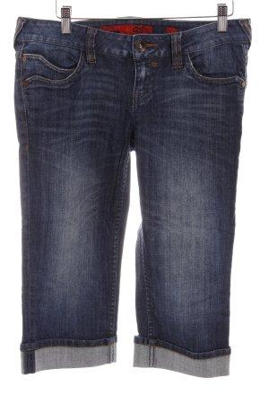 QS by s.Oliver Jeans 3/4 bleu foncé-bleu acier style décontracté