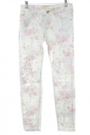 QS by s.Oliver 7/8 Jeans Blumenmuster Hippie-Look