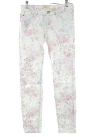 QS by s.Oliver Jeans a 7/8 motivo floreale stile hippie