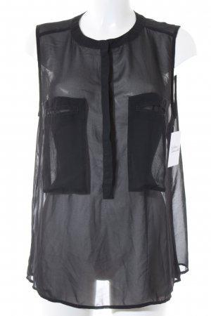 QS by s.Oliver ärmellose Bluse schwarz schlichter Stil