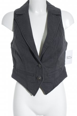 QS by s.Oliver Gilet grigio scuro stile casual
