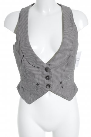 QS by s.Oliver Waistcoat grey-black pinstripe casual look