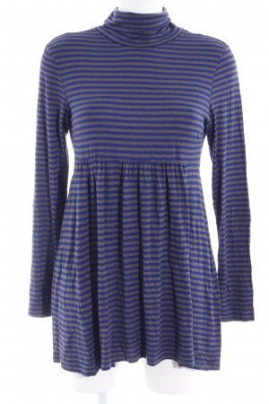 QS by s.Oliver Babydoll Dress grey-blue horizontal stripes casual look