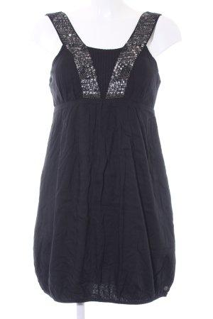 QS by s.Oliver vestido de globo negro-color plata look casual