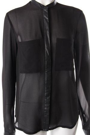 QS by s.Oliver Blouse Black Transparent Black Blouse