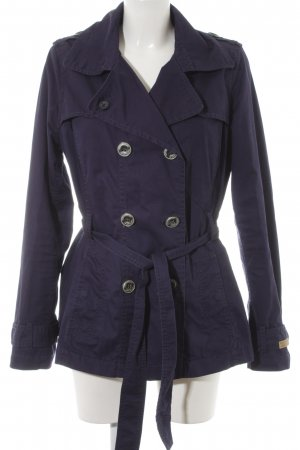 QS by s.Oliver Heavy Pea Coat dark blue Brit look