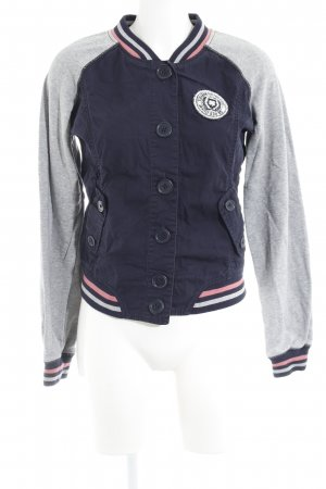 QS by s.Oliver College jack donkerblauw-lichtgrijs casual uitstraling