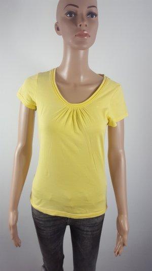 QS by S.Oliver Damen Basic Shirt T-Shirt gelb Größe M Essentials