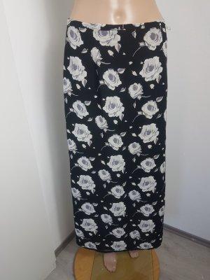 QS by s.Oliver Maxi Skirt white-black viscose