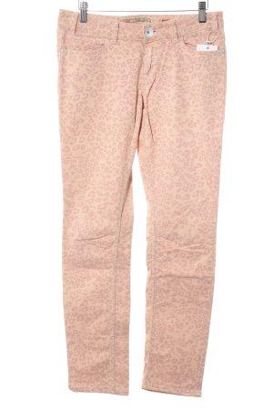 QS by s.Oliver Pantalon cinq poches rosé-mauve motif animal imprimé animal