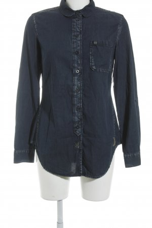 QS by s.Oliver Hemd-Bluse dunkelblau Casual-Look