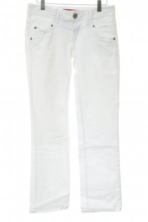 QS by s.Oliver Jeans taille basse blanc style classique