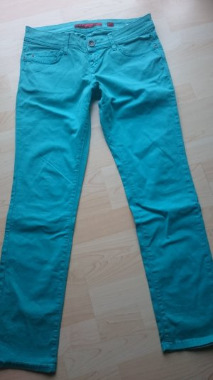 Qs by s.Oliver Jeans Hose Catie Slim Low Tube Türkis Gr 40/30