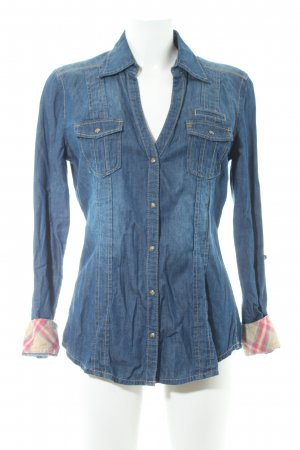 QS by s.Oliver Jeansbluse blau Casual-Look