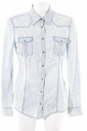QS by s.Oliver Jeanshemd himmelblau Animalmuster Casual-Look