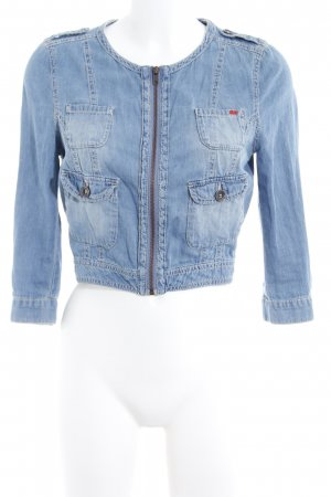 QS by s.Oliver Denim Jacket cornflower blue-red casual look