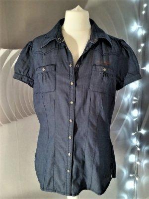 s.Oliver Jeans blouse blauw Katoen