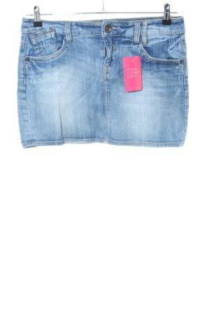 QS by s.Oliver Jupe en jeans bleu style décontracté