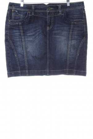 QS by s.Oliver Denim Skirt dark blue casual look