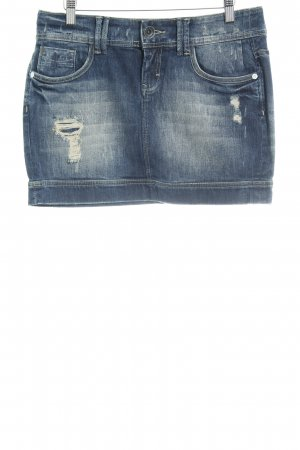 QS by s.Oliver Spijkerrok donkerblauw casual uitstraling
