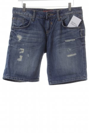 QS by s.Oliver Jeansshorts blau-sandbraun Casual-Look