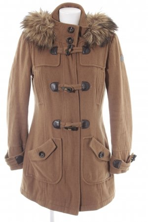 QS by s.Oliver Hooded Coat light brown casual look