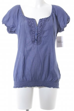 QS by s.Oliver Kurzarm-Bluse blau Casual-Look