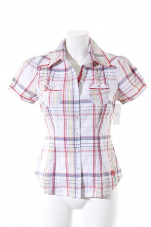 QS by s.Oliver Short Sleeved Blouse check pattern casual look