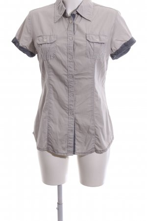 QS by s.Oliver Short Sleeve Shirt light grey casual look