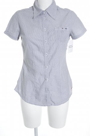 QS by s.Oliver Short Sleeve Shirt white-slate-gray striped pattern casual look