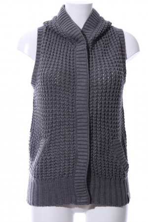 QS by s.Oliver Short Sleeve Knitted Jacket light grey cable stitch