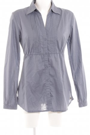 QS by s.Oliver Langarm-Bluse graublau Casual-Look