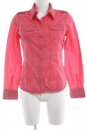 QS by s.Oliver Langarm-Bluse neonrot Casual-Look