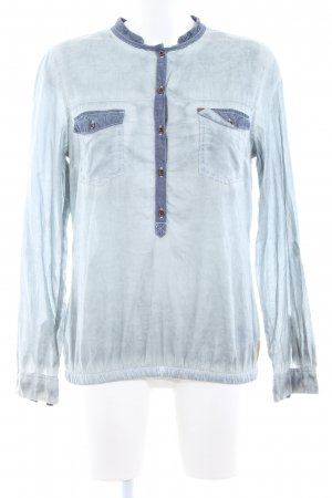 QS by s.Oliver Langarmhemd blau Casual-Look