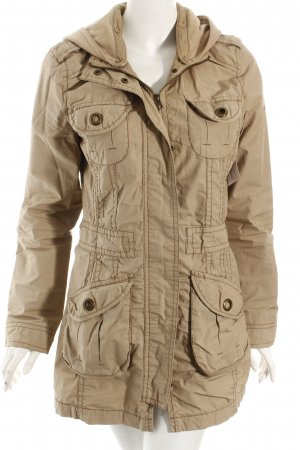QS by s.Oliver Lange Jacke beige Casual-Look