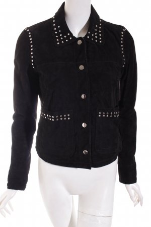 QS by s.Oliver Lederjacke schwarz Street-Fashion-Look